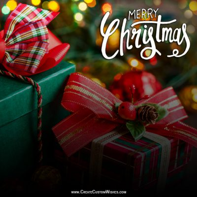 Write Text on Christmas Wishes Card Online