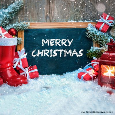 Merry Christmas 2018 Greetings Card Maker