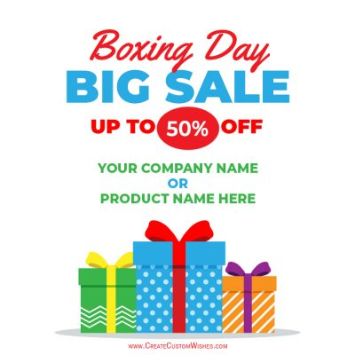 Make Boxing Day Sale Images