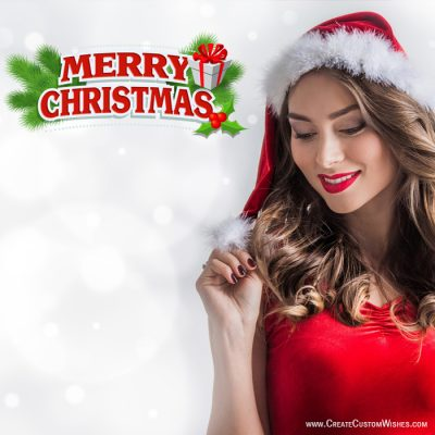 Free Christmas Cute Girl Wishes Cards