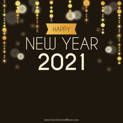 2021 Happy New Year Greetings Cards