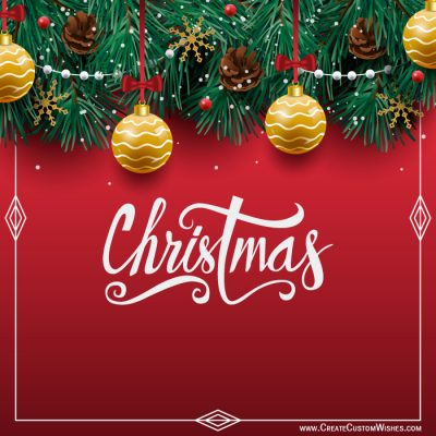 Write Name on Merry Christmas Image