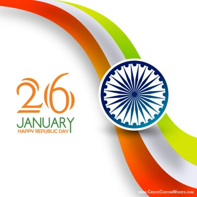 Write Name on Republic Day Wishes Card