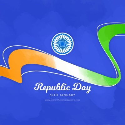 DIY - Republic Day Image with Name