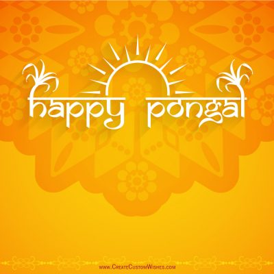 Write Name on Pongal Wishes Card