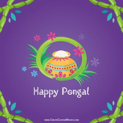Online Pongal Wishes Card Maker