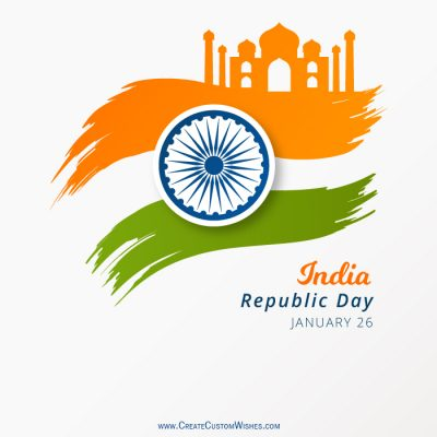 Write Text on Republic Day Image