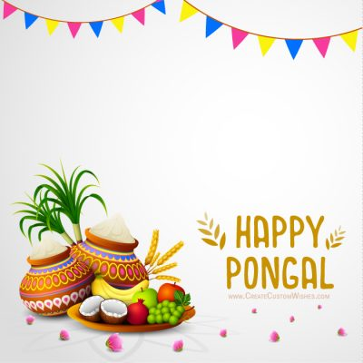 Write Text on Pongal Image Free