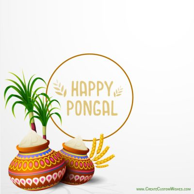 DIY - Happy Pongal Image with Name