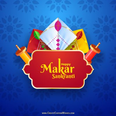 DIY - Makar Sankranti Image with Name