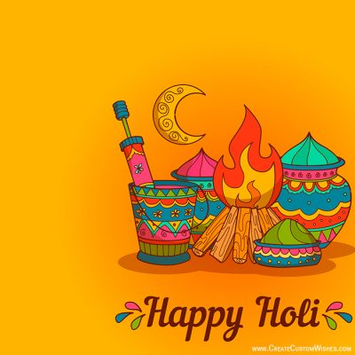 Make Custom Holi Card with Logo