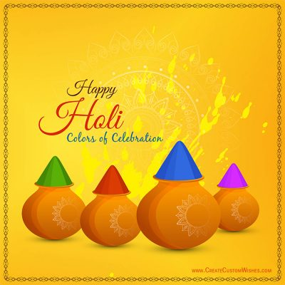 Make Custom Holi Greetings Cards