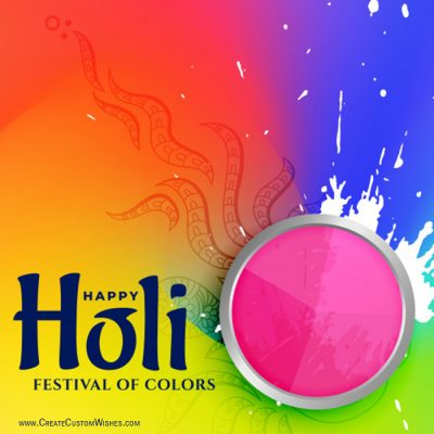 Write Name on Holi Wishes Images
