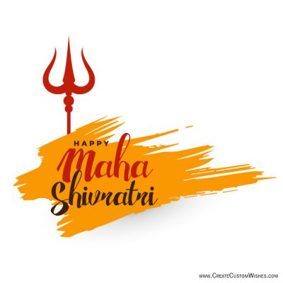 Online Free Make Maha Shivratri Wishes Cards