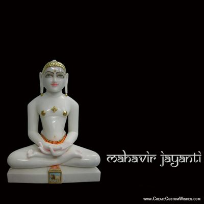 Make Custom Mahavir Jayanti Greetings Cards
