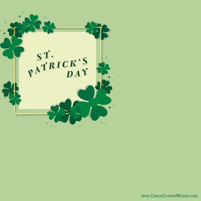 Write Name on St.Patrick's Day Wishes Images