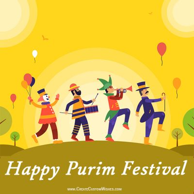 Set Your Image on Purim Wishes Cards