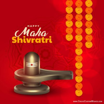 Maha Shivratri Image with Name