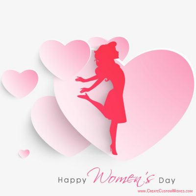 Free Customize Women's Day Greetigns Card