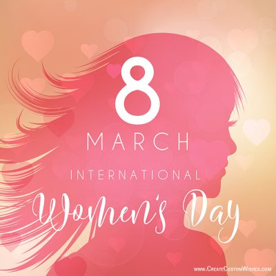 Write Your Name On Women's Day Wishes Card