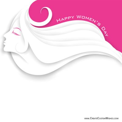 Write Text On Women's Day Wishes Card Online