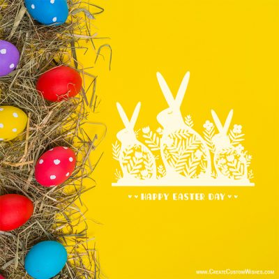 Write Text on Easter Day Wishes Cards Free