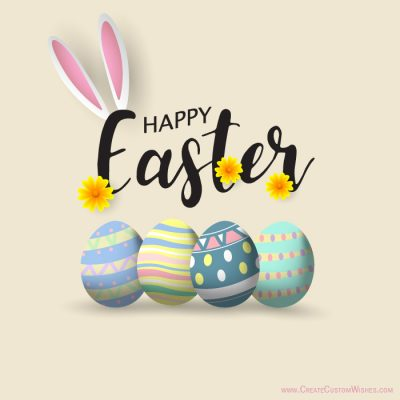 Online Write Your Name on Easter Day Cards