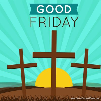 Write Name on Good Friday Wishes Images