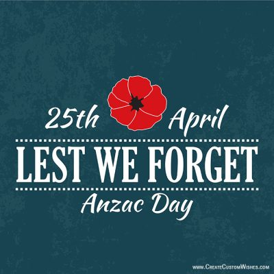 Write Name on Anzac Day Wishes Images