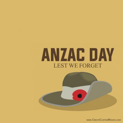 DIY - Anzac Day Wishes Cards Online Free