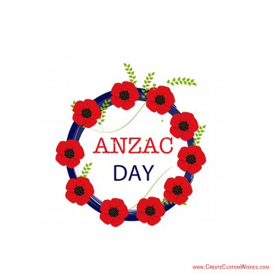 Set Logo Image on Anzac Day Greetings Cards