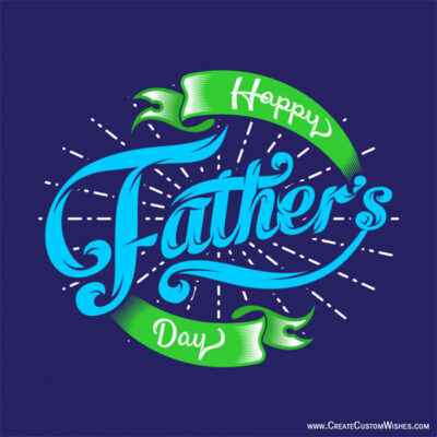 Write Name on Father's Day Wishes Images