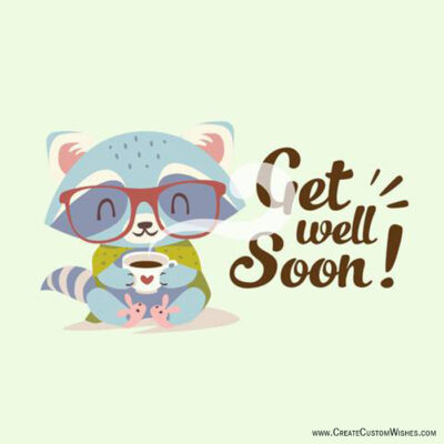 Online Write Your Name on Get Well Soon Cards