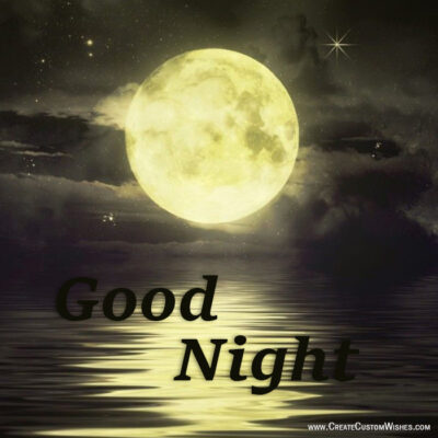 Put Your Image on Good Night Wishes Image