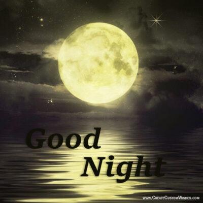 Put Your Image on Good Night Wishes Image