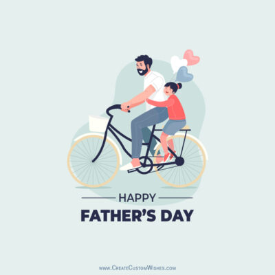 Happy Father's Day Image with Name