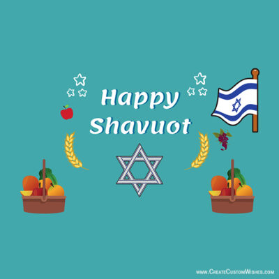 Make Custom Shavuot Greetings Cards