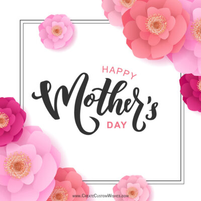 Create Mother's Day Image with Name
