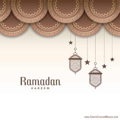 Set Your Image on Ramadan Wishes Cards