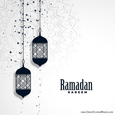 Online Write Your Name on Ramadan Cards