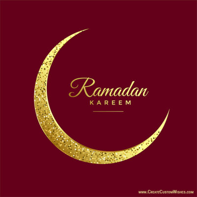 Personalize Ramadan Wishes Card Online