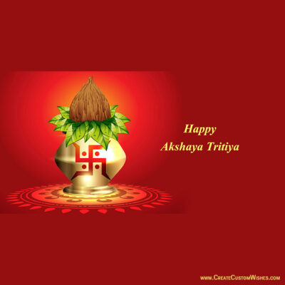 Make Custom Akshaya Tritiya Greetings Cards