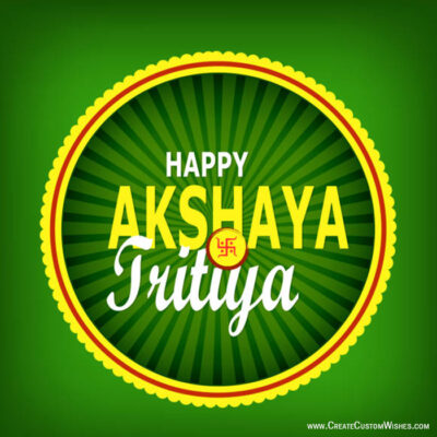 Akshaya Tritiya Wishes Cards with Name