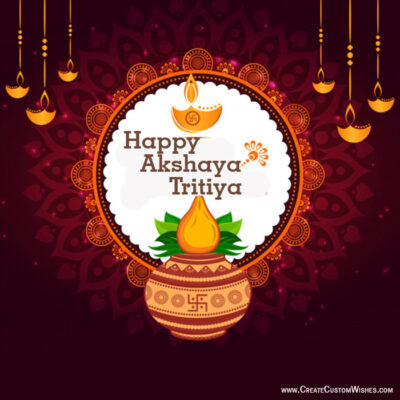 DIY - Akshaya Tritiya Wishes Cards Online Free