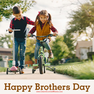 Customized Brothers Day Wishes Card