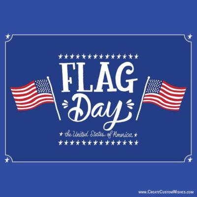Make Custom Flag Day Greetings Cards