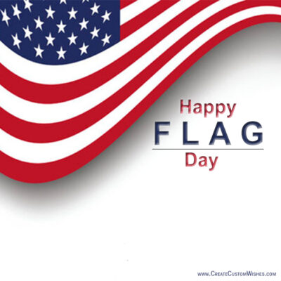 Write Name on Flag Day Wishes Images