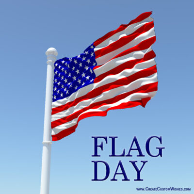 Freely Create Your Own Flag Day cards