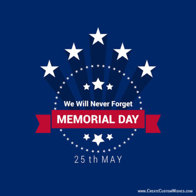 Write Text on Memorial Day Wishes Cards Free