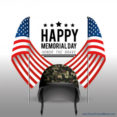 Create Custom Memorial Day Wishes Cards
